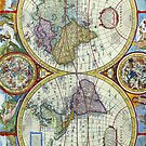 New and Accurate Map of the World Circa 1626 by pjwuebker
