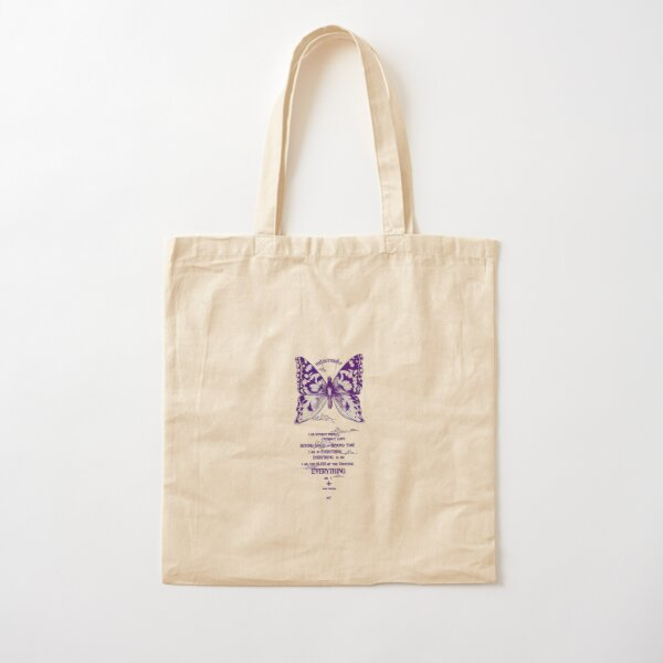 Butterfly drawing Cotton Tote Bag