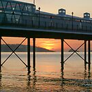 Mid-summer dawn over Paignton beach by Anna Goodchild