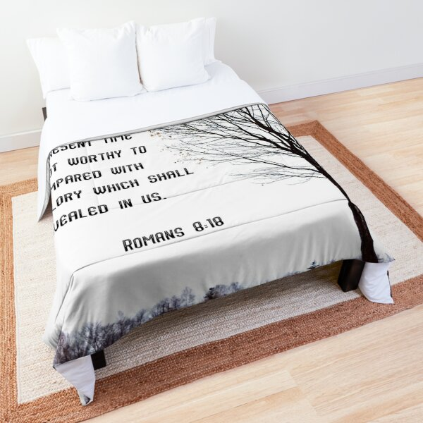Romans 8:18, tree silhouette creative Comforter