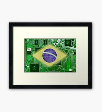 circuit board Brazil Framed Print