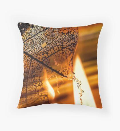 Dark Flames Throw Pillow