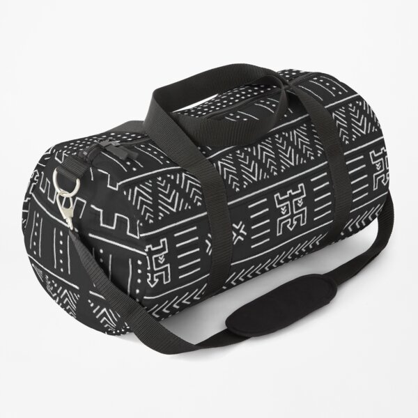Black and White African Tribal Pattern Duffle Bag