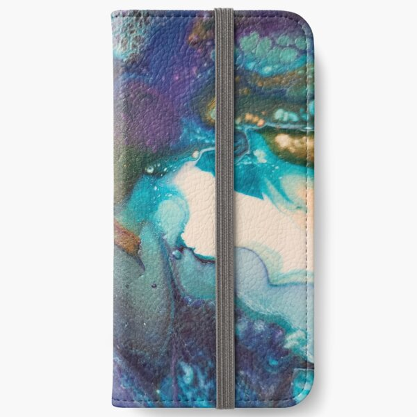 Acrylic Dutch Pour Abstract Art iPhone Wallet
