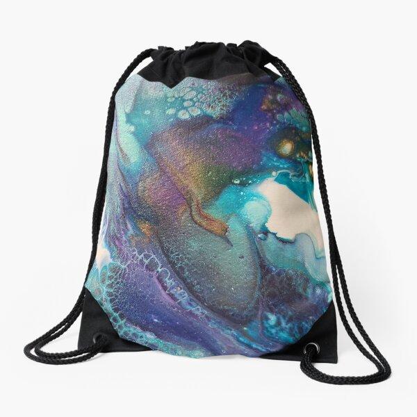 Acrylic Dutch Pour Abstract Art Drawstring Bag