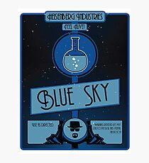 Blue Sky Plasmid Photographic Print
