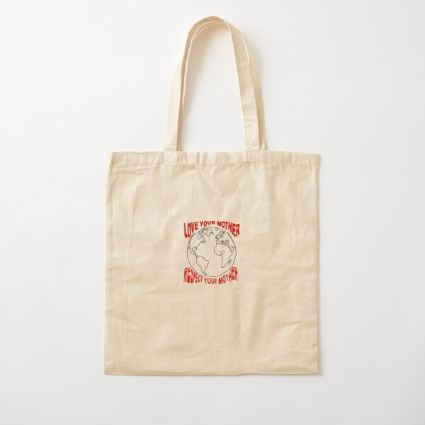 Love your mother design Bolsa de algodón