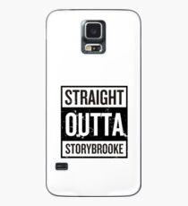 Straight Outta Storybrooke - Schwarze Wörter Hülle & Klebefolie für Samsung Galaxy