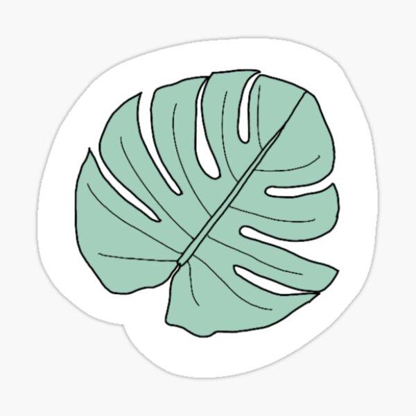 Aesthetic Pastel Simple Mint Green Leaf Sticker By Millafrlan Redbubble