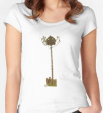 Moonrise Kingdom Treehouse Women's Fitted Scoop T-Shirt