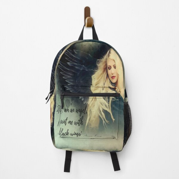 """Gothic Angel   """"If I am an angel paint me with black wings"""" Backpack"""