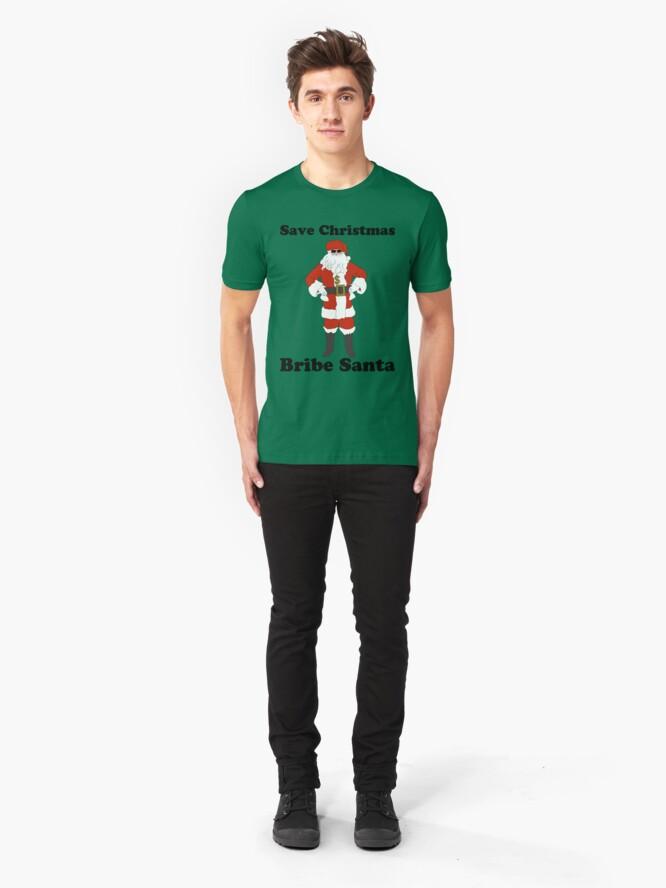 Alternate view of Bribe Santa Slim Fit T-Shirt