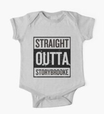 Straight Outta Storybrooke - Black Words One Piece - Short Sleeve