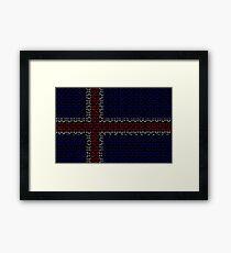 digital Flag (iceland) Framed Print