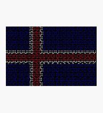 digital Flag (iceland) Photographic Print