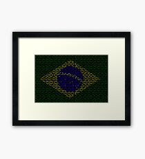 digital Flag (Brazil) Framed Print