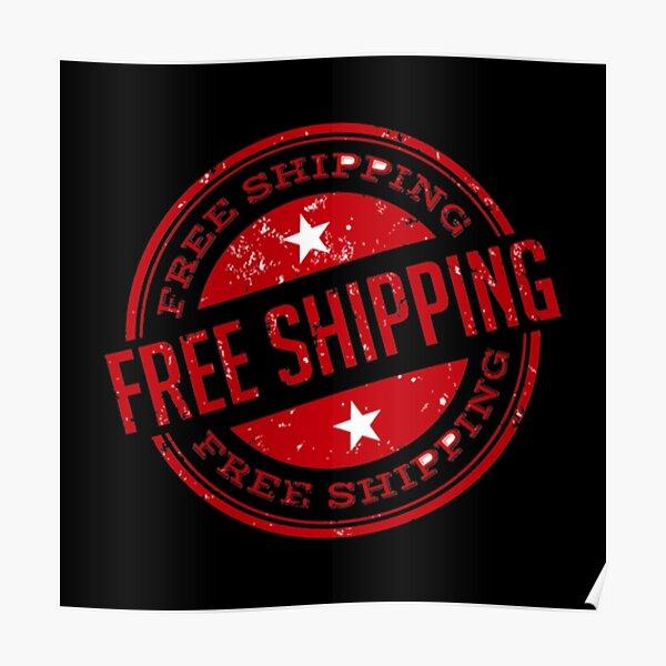 Free Shipping Logo Poster