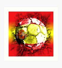 football spain Art Print