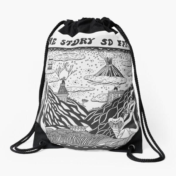 the story so far Drawstring Bag