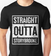 Straight Outta Storybrooke - White Words T-Shirt