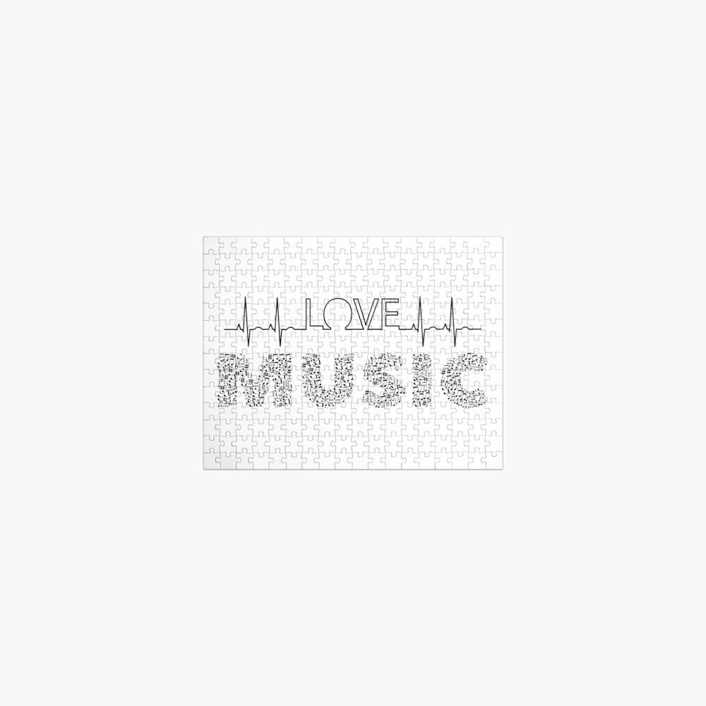 Love Music Musical notes Heartbeat Jigsaw Puzzle