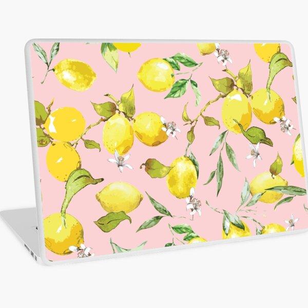 Watercolor Lemon Pattern X Laptop Skin
