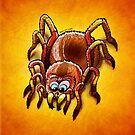 Tarantula Sinking its Fangs into Fresh Flesh by Zoo-co