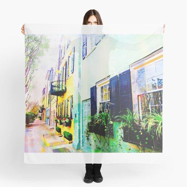 Rainbow Row (1) - Charleston, South Carolina Scarf