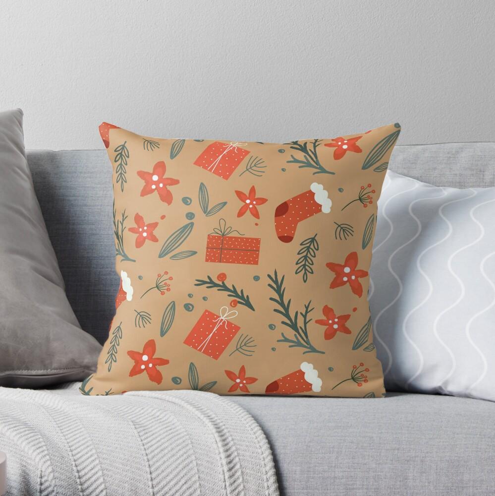 Cute Christmas Pattern Throw Pillow
