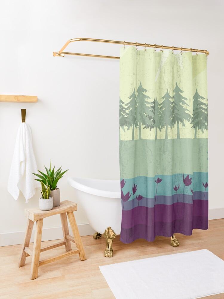 Alternate view of Wildlife Shower Curtain
