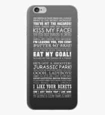 Alan Partridge Quotes (White Text) iPhone Case