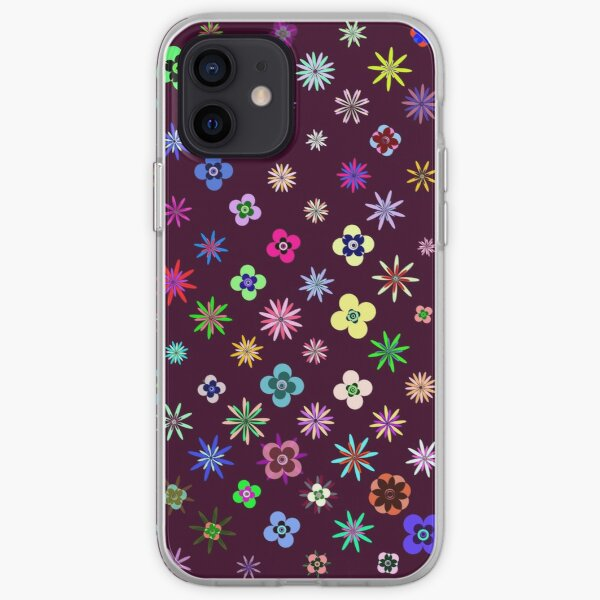 Happy Flower Pattern on Mulberry PanicDay iPhone Soft Case