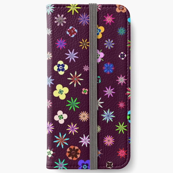 Happy Flower Pattern on Mulberry PanicDay iPhone Wallet