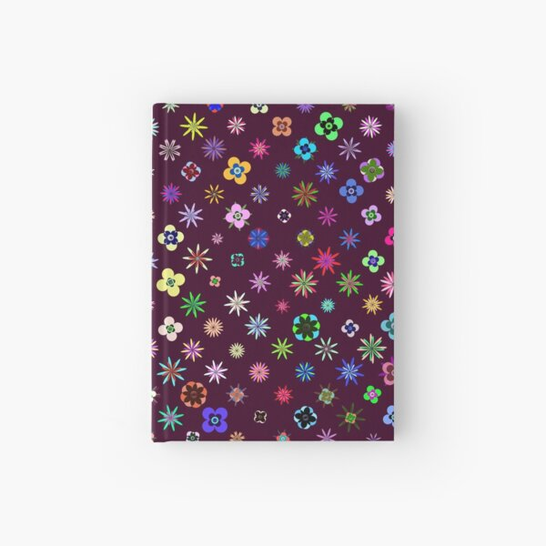 Happy Flower Pattern on Mulberry PanicDay Hardcover Journal