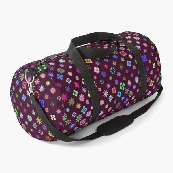 Happy Flower Pattern on Mulberry PanicDay Duffle Bag