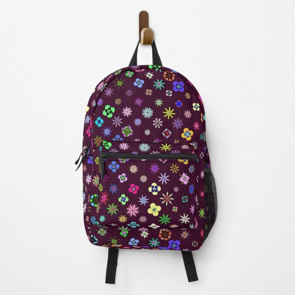 Happy Flower Pattern on Mulberry PanicDay Backpack