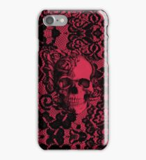 Gothic Lace skull. iPhone Case/Skin