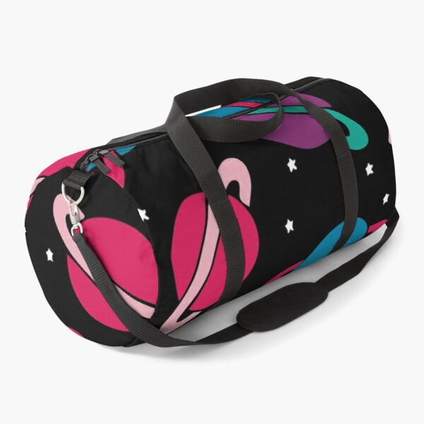 Neon Space Planets Pattern Duffle Bag
