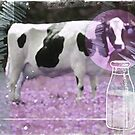 milk comes from a bottle by Vin  Zzep