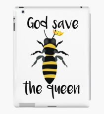 God Save the Queen Bees iPad Case/Skin