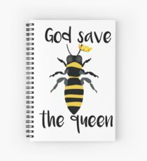 God Save the Queen Bees Spiral Notebook