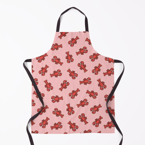 Lobsters Pattern on Light Pink Apron
