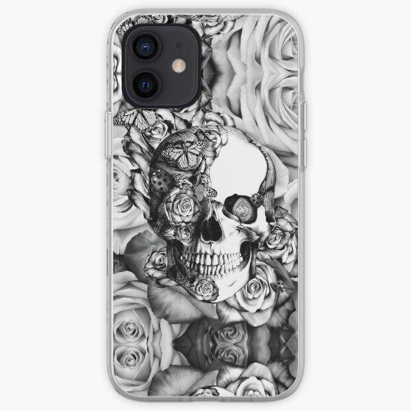Ladybug Rose skull.  iPhone Soft Case