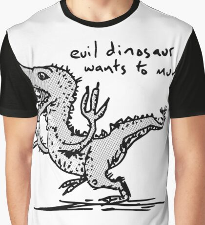 Evil Dinosaur Wants to Munch Graphic T-Shirt