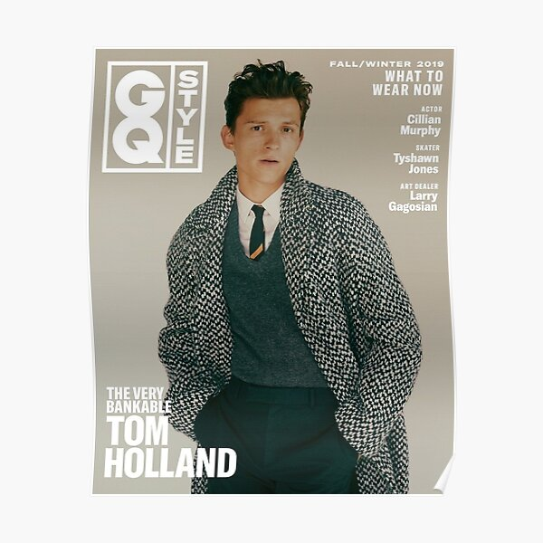 Tom Holland GQ poster Poster