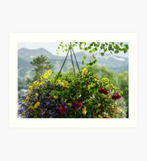 Yellow Annuals Art Print
