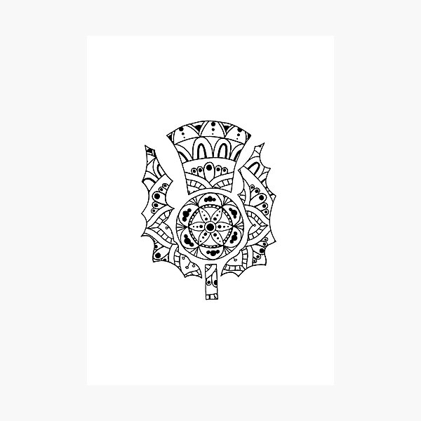 Thistle Mandala Photographic Print