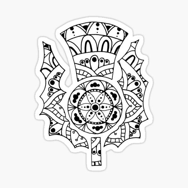 Thistle Mandala Sticker