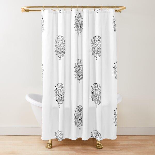 Thistle Mandala Shower Curtain