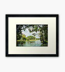 Framing the Rainbow River Framed Print